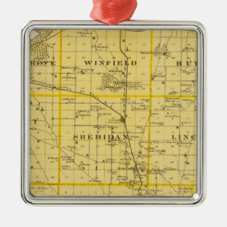 Map of Scott County, State of Iowa Christmas Ornament