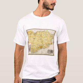 Map of Scott County, State of Iowa T-Shirt