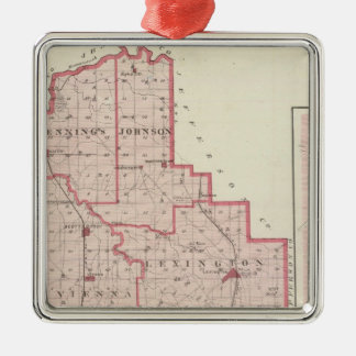 Map of Scott County with Lexington, Scottsburg Christmas Ornament