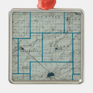 Map of Shelby County Christmas Ornament