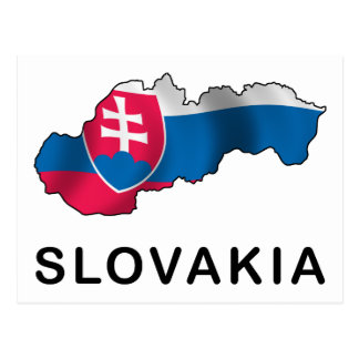 Map Of Slovakia Postcard