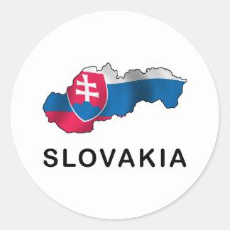 Map Of Slovakia Round Sticker