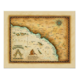 Map of So. Cal Poster