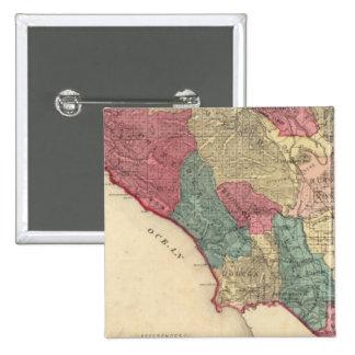 Map of Sonoma County California 15 Cm Square Badge
