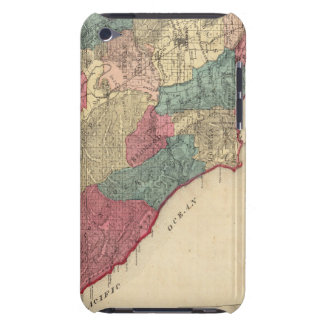 Map of Sonoma County California iPod Touch Case-Mate Case