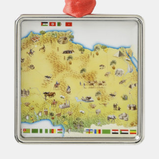 Map of South Africa 2 Christmas Ornament
