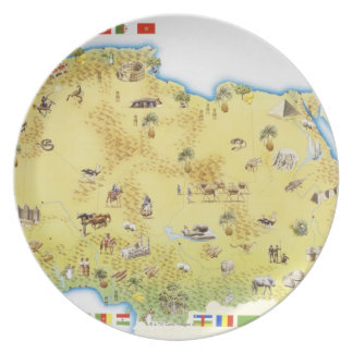 Map of South Africa 2 Dinner Plates