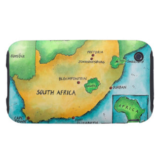 Map of South Africa Tough iPhone 3 Covers