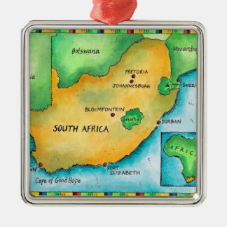 Map of South Africa Christmas Ornament