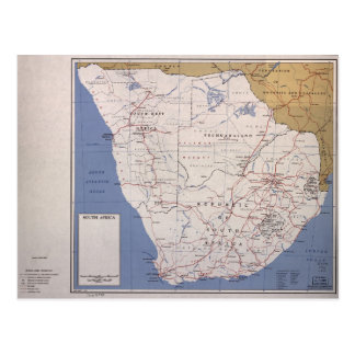 Map of South Africa (December 1961) Postcard