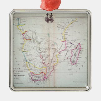 Map of South Africa illustrating Christmas Ornament
