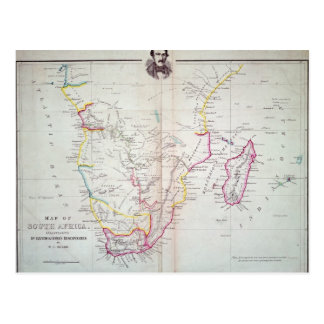 Map of South Africa illustrating Postcard