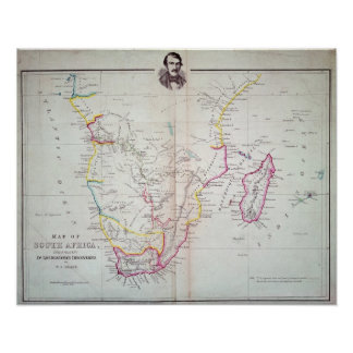 Map of South Africa illustrating Poster