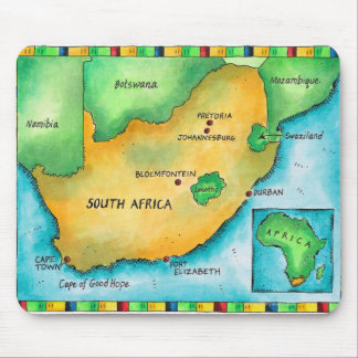Map of South Africa Mouse Pad