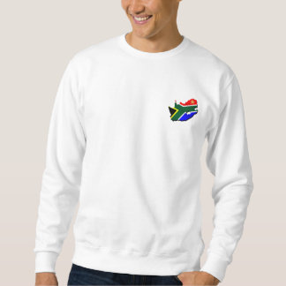 Map of South Africa SOuth African flag Sweatshirt