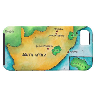 Map of South Africa Tough iPhone 5 Case