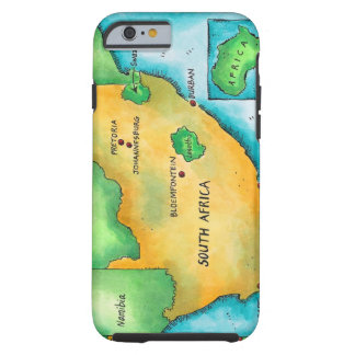 Map of South Africa Tough iPhone 6 Case