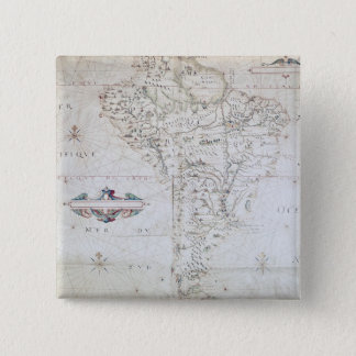 Map of South America 15 Cm Square Badge