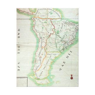 Map of South America, 1777 Canvas Print