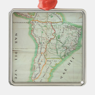 Map of South America, 1777 Christmas Ornament
