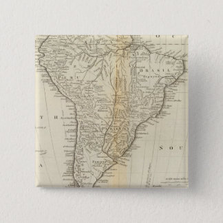 Map of South America 2 15 Cm Square Badge