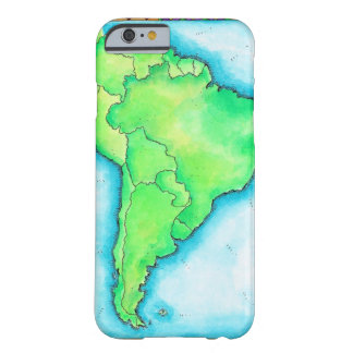 Map of South America 2 Barely There iPhone 6 Case