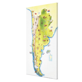 Map of South America 2 Canvas Print