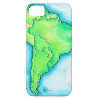Map of South America 2 iPhone 5 Case