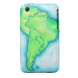 Map of South America 2 iPhone 3 Case