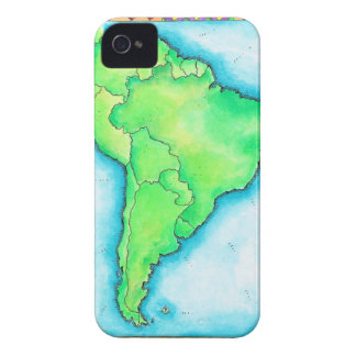Map of South America 2 iPhone 4 Case-Mate Case
