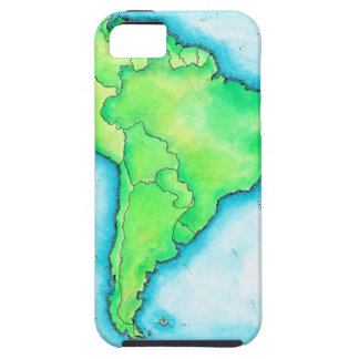 Map of South America 2 iPhone 5 Covers