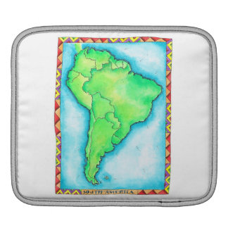 Map of South America 2 iPad Sleeve