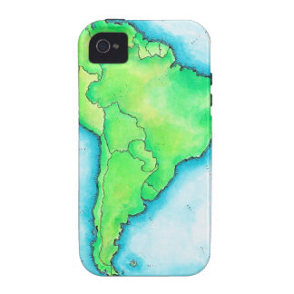 Map of South America 2 iPhone 4/4S Covers