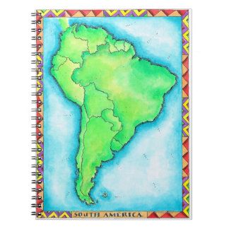 Map of South America 2 Notebooks