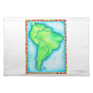 Map of South America 2 Placemat