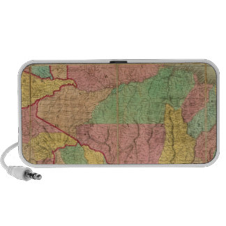 Map of South America 2 Notebook Speakers