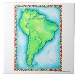 Map of South America 2 Tile