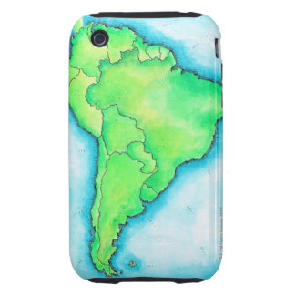 Map of South America 2 Tough iPhone 3 Cover