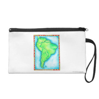 Map of South America 2 Wristlet
