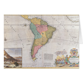Map of South America 3 Card