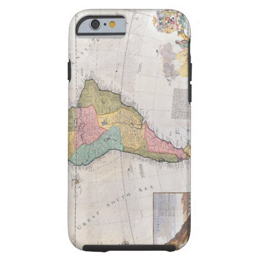 Map of South America 3 iPhone 6 Case