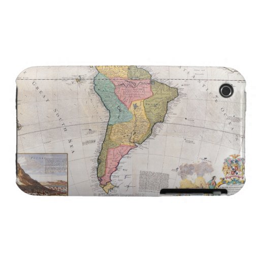 Map of South America 3 iPhone 3 Cases