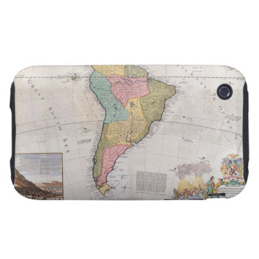 Map of South America 3 iPhone 3 Tough Covers