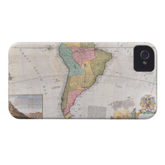 Map of South America 3 Case-Mate iPhone 4 Case