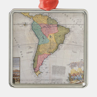 Map of South America 3 Christmas Ornament