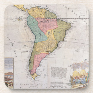 Map of South America 3 Coaster