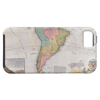Map of South America 3 iPhone 5 Case