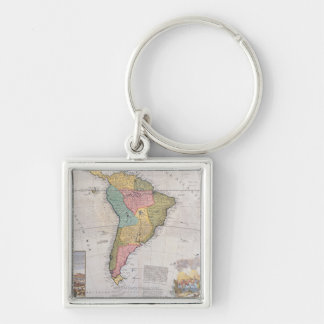 Map of South America 3 Key Ring
