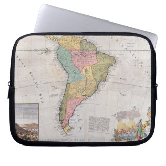 Map of South America 3 Laptop Sleeve