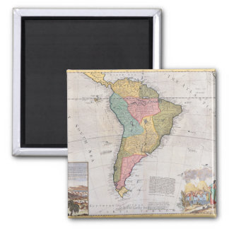 Map of South America 3 Magnet